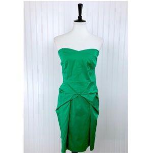Torrid • Green Strapless Sweetheart Dress • 16